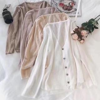 Hàng sẵn- Áo khoác len mỏng chất đẹp