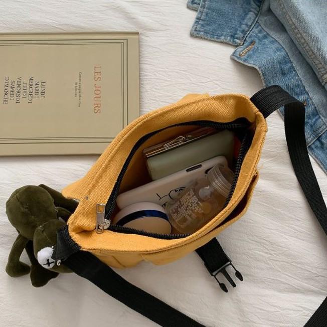 Túi Đeo Chéo Nữ Chất Vải Cao Cấp 💖VIDEO THẬT💖 Túi Đeo Chéo Nữ Thời Trang Mới (TV-43)