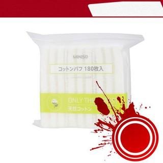 [ Hàng Hot ] Bông tẩy trang miniso nhật bản 180 miếng cotton mềm mịn sạch sâu thumbnail
