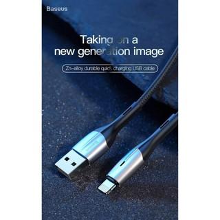 Cáp sạc nhanh iPhone - Cáp Lightning Baseus - Siêu bền - Chống Gẫy Đứt - Có Đèn LED - Bảo hành 12 tháng qua hộp