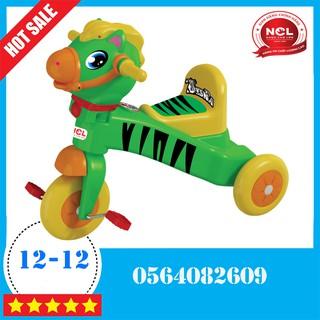 Xe đạp 3 bánh Nhựa Chợ Lớn L7 Con Ngựa Vằn (Không Nhạc) – M1764A-X3B shopminhson