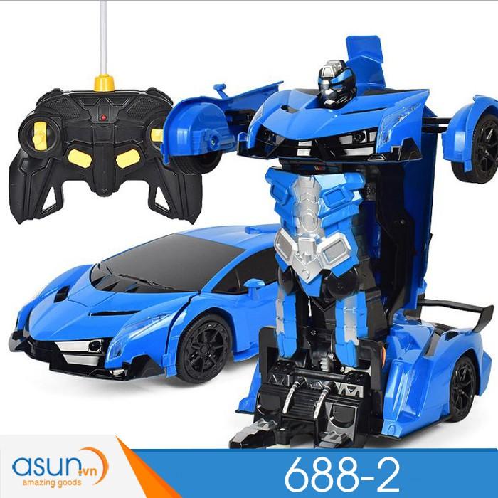 Xe Robot Điều Khiển Biến Hình Lamborghini Cảm Ứng Tay 6882 Chất lượng 1 đổi 1