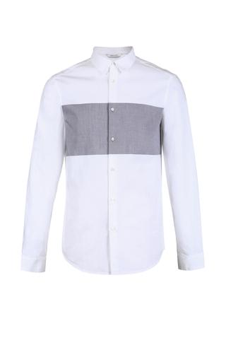 Áo sơ mi cotton mùa thu tương phản màu dài tay giản dị JACK&JONES 31800_126851