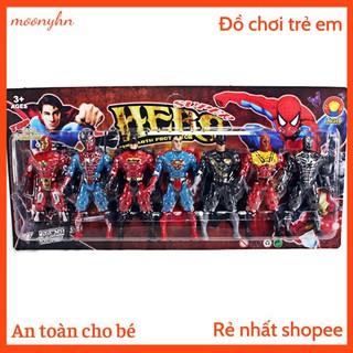 Đồ chơi mô hình ,vỉ siêu anh hùng 7 nhân vật làm bằng nhựa dẻo bền đẹp thích họp cho các bé từ 3+ thumbnail