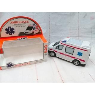 Xe cứu thương nhạc đèn xe chạy pin