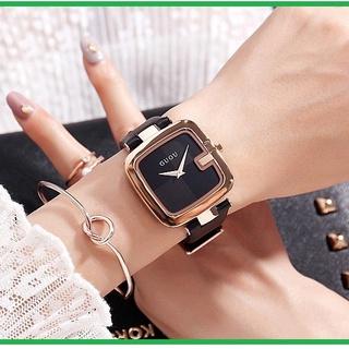 Đồng hồ nữ GUOU mặt vuông Freeship sang trọng cao cấp siêu đẹp BH 6 Tháng thumbnail