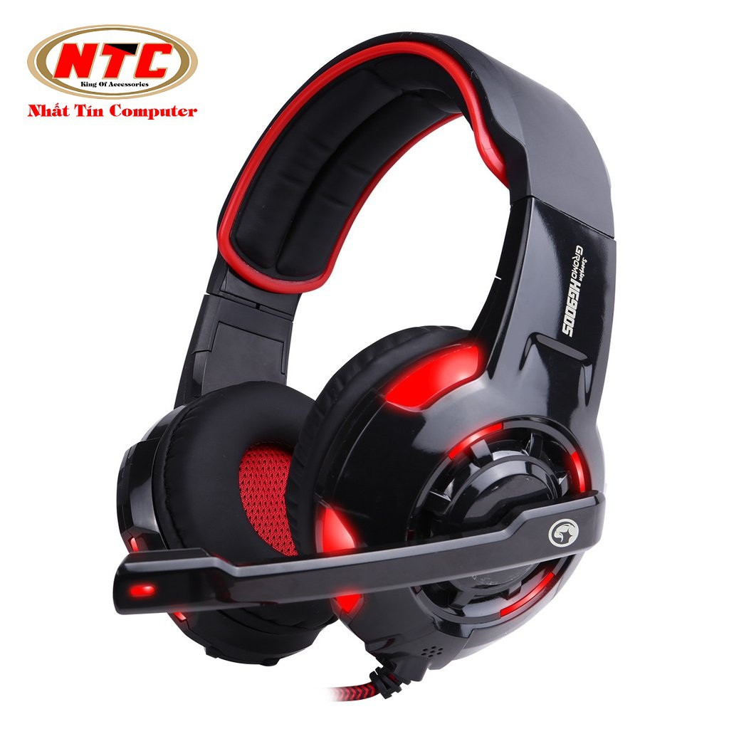 Tai nghe chụp tai chuyên Game Marvo HG9005 có đèn Led - Âm thanh 7.1 (Đen)