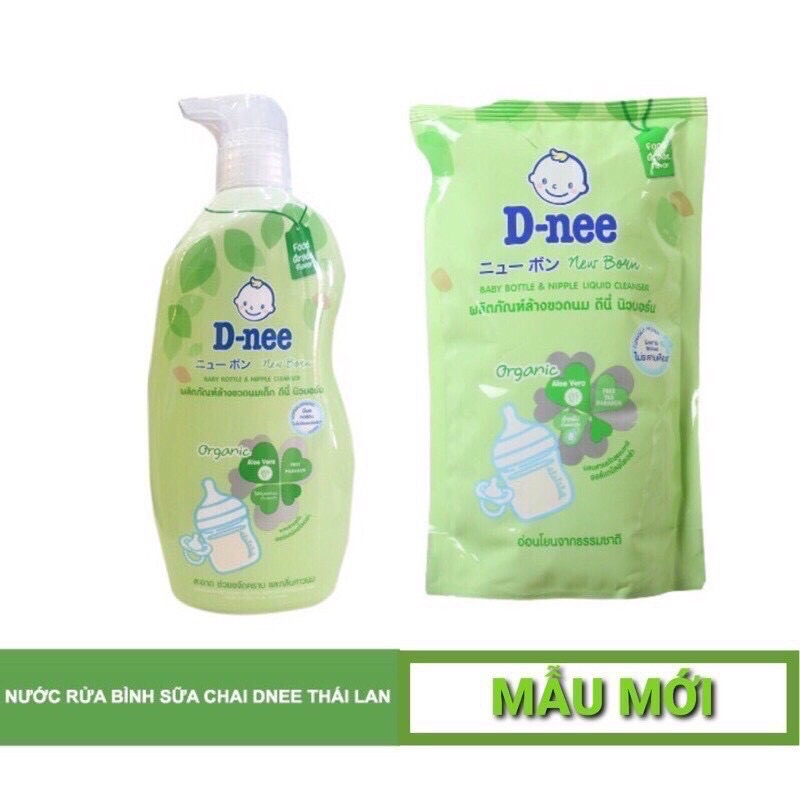[ĐÃ BÁN HƠN 20KSP] Nước rửa bình sữa Dnee Organic 600ml - Mẫu Mới 2019