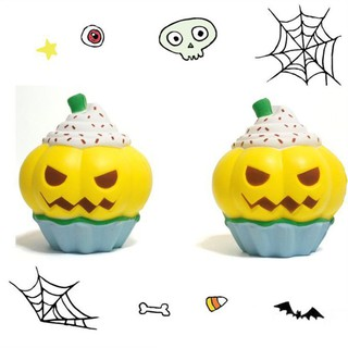 Halloween Squishy Pumpkin Cupcake Simulation Squeeze Slow Rising Cupcake with