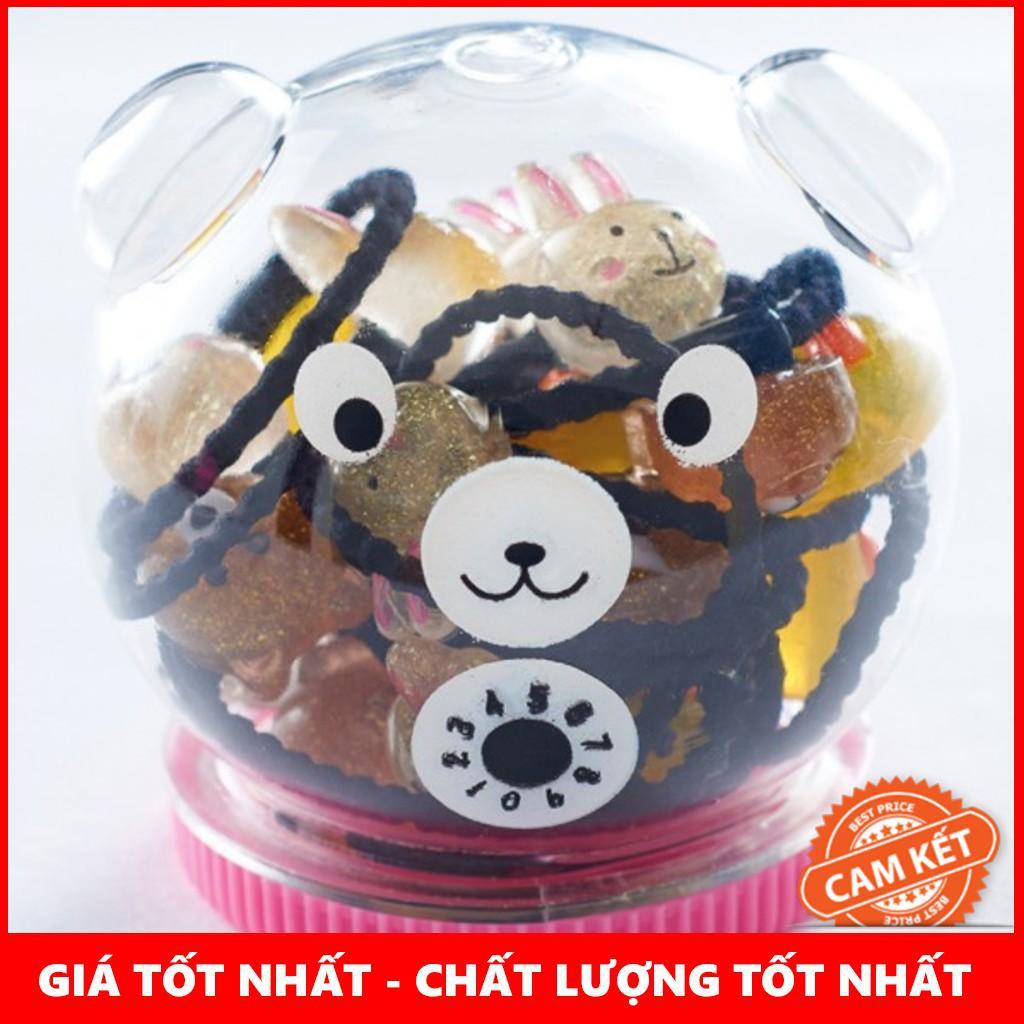 [BÁN LẺ]  Hộp Chun Cột Tóc Hình Gấu Cực Đáng Yêu
