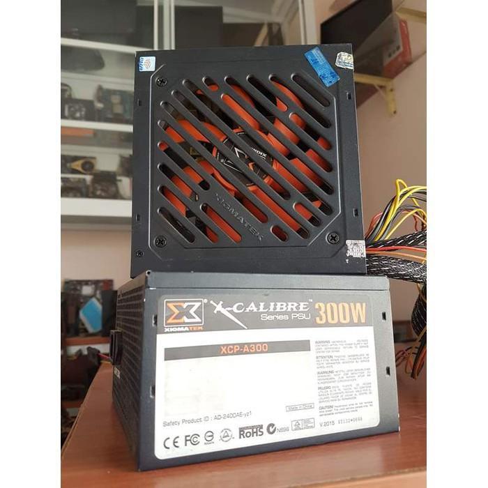 Nguồn máy tính Xigmatek A300 có dây nguồn phụ 6 pin dây rắn cân tốt GTX 1050ti bảo hành 3 tháng lỗi 1 đổi 1