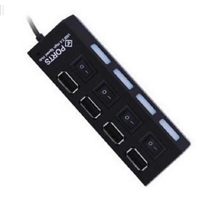 4 Port Micro USB Hub 2.0 USB Splitter High Speed 480Mbps USB 2.0 Hub LED With