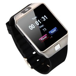 Đồng hồ thông minh Smartwatch DZ09 (Đen phối bạc) thumbnail