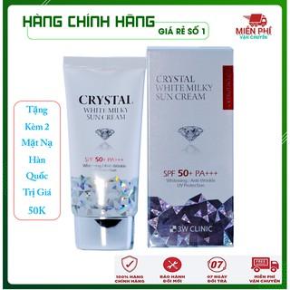 [Hàng Nhập Khẩu – Freeship] Kem chống nắng kim cương 3W CLINIC CRYSTAL WHITE MILKY SUN CREAM SPF 50/ PA +++