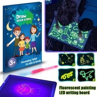 ZFXW LED Light Up Drawing Kit Developing Toy Portable Draw Sketchpad Board for Kids @VN