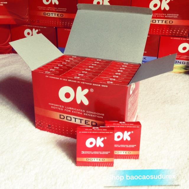 Bao cao su Ok Dotted hộp 144c - chính hãng