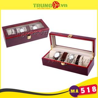 Hộp Đồng Hồ 6 Ngăn Vỏ Gỗ Sơn Mài SAIKE - Mã 518 thumbnail