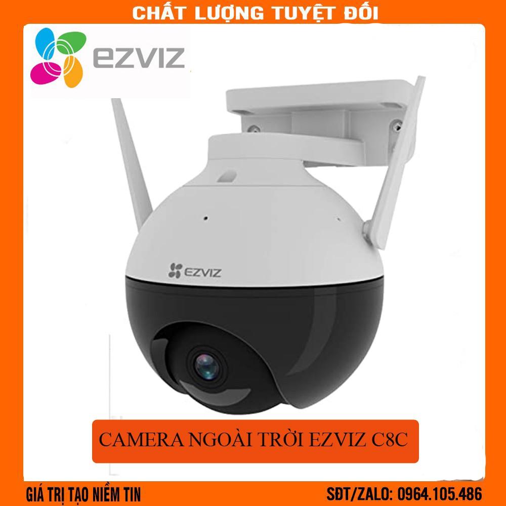 Camera ngoài trời wifi EZVIZ C8C Full HD 1080P xoay 360 độ Tích hợp AI -Có màu ban đêm
