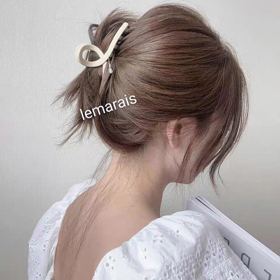 Kẹp tóc Hàn Quốc , kẹp tóc càng cua kim loại size lớn Hottrend siêu xinh