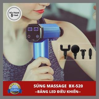 ✈️ [Freeship] Súng massage FASCIAL GUN BX-520 thế hệ mới [Màn LED điều khiển cảm ứng]