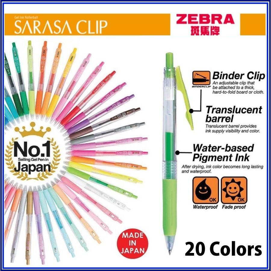 [Mã SKAMA07 giảm 8% tối đa 50K đơn 250K] Bút gel Zebra Sarasa clip 0.5 mm (Japan)