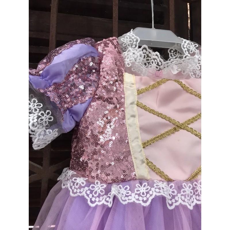 🎀 Váy công chúa Tóc mây Rapunzel cho bé có kèm clip và ảnh thật🎀