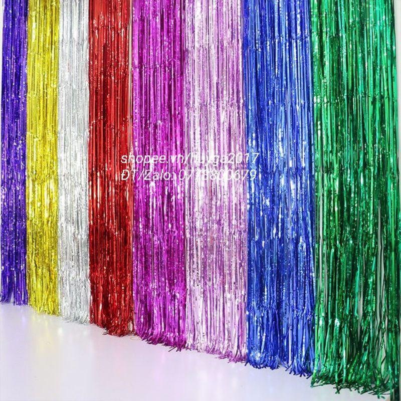 Rèm kim tuyến trang trí sinh nhật cao 2m×1m (rèm dày) (giá sỉ 9.5k )