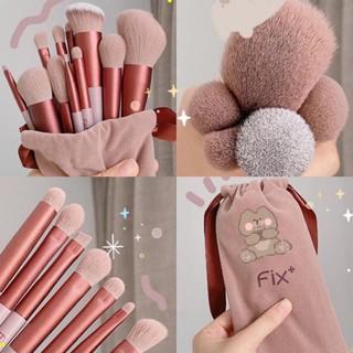 [ bộ 13 cây ] Cọ trang điểm Fix Hồng 13 Cây,bộ Cọ makeup Trang Điểm cá nhân kèm túi đựng HT 6