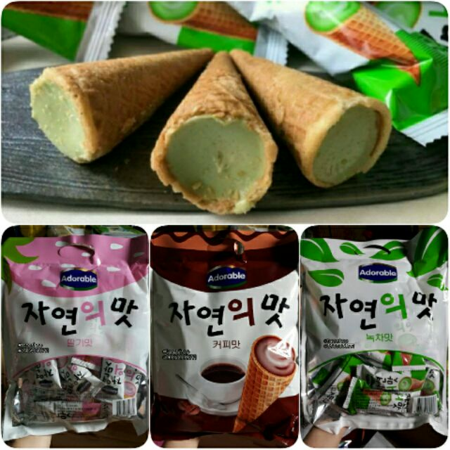 [HCM] Combo 3 gói bánh ốc quế Adorable Hàn Quốc