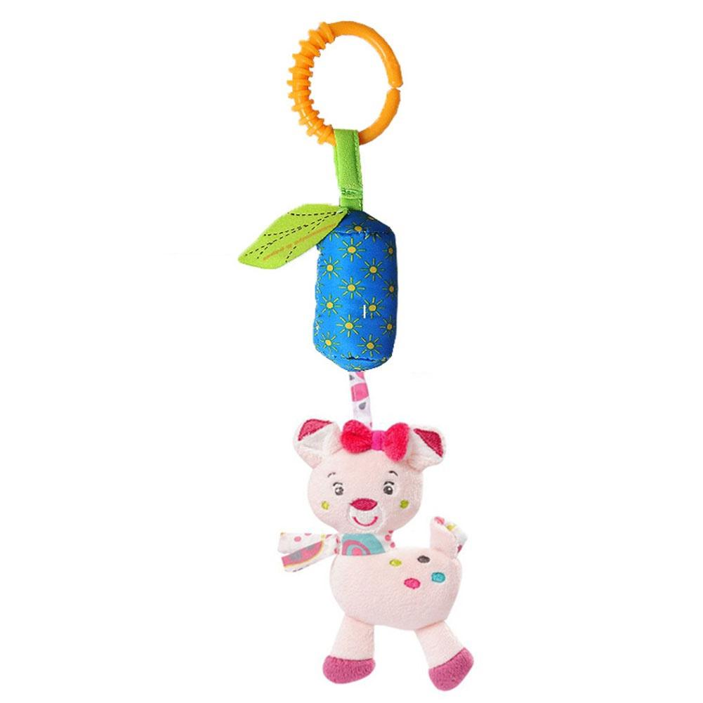 Baby Toys Lovely Soft Animal Handbell Rattles Baby Crib Stroller Aeolian Bells with BB Toy