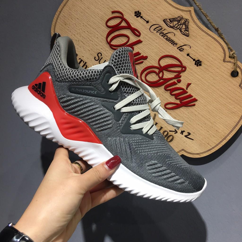 [ SALE ] Giày alphabounce xám đỏ (Có sẵn)