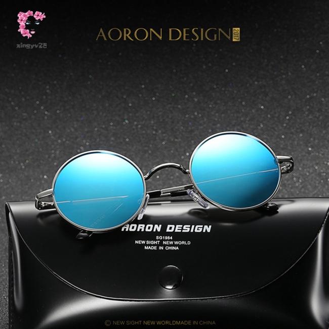 Unisex Fashion Round Design UV400 HD Night Vision Ultraviolet-proof Driving Glasses