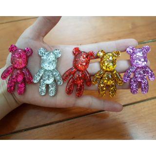 Charm gấu cute size 5cm trang trí slime