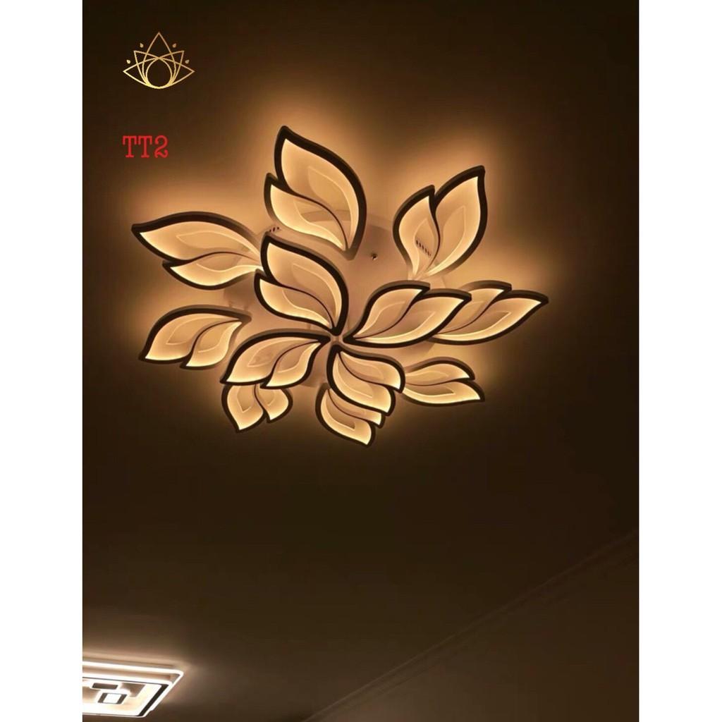 Đèn trần MONSKY UMIA LED mâm 3 màu ánh sáng  12 cánh có điểu khiển từ xa tiện dụng dùng cho trang trí tuyệt đẹp