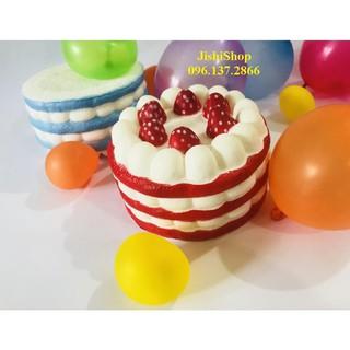 Squishy bánh kem sinh nhật các màu ngẫu nhiên