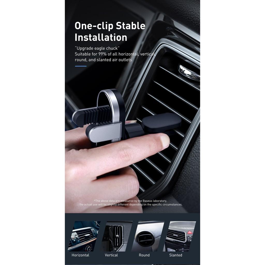 Giá đỡ điện thoại gắn trên cửa gió điều hòa xe hơi Baseus SUYL-QE01