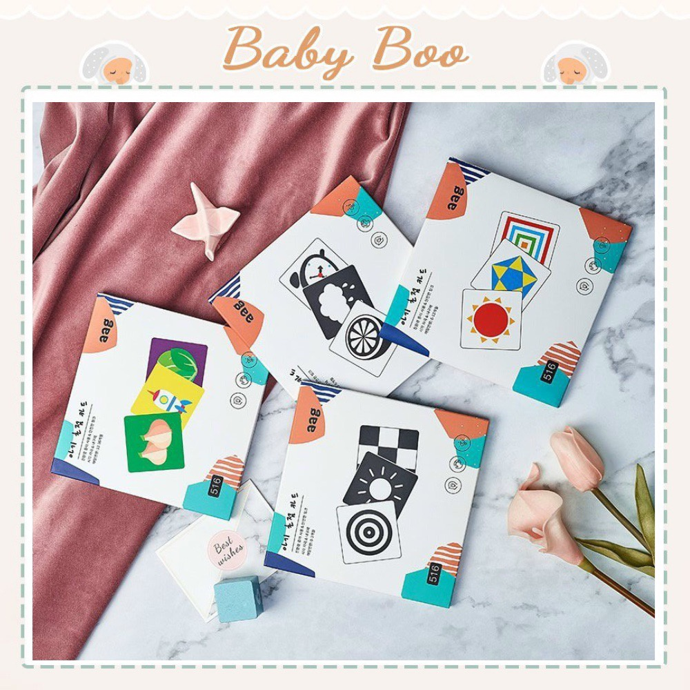 Bộ thẻ kích thích thị giác Aag cho bé 0-36 tháng [ babyboo]