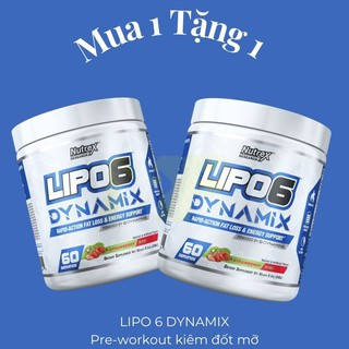 {MUA 1 TẶNG 1} Lipo6 Dynamix – Pre-Workout kết hợp đốt mỡ 2 in 1 (60 serving)