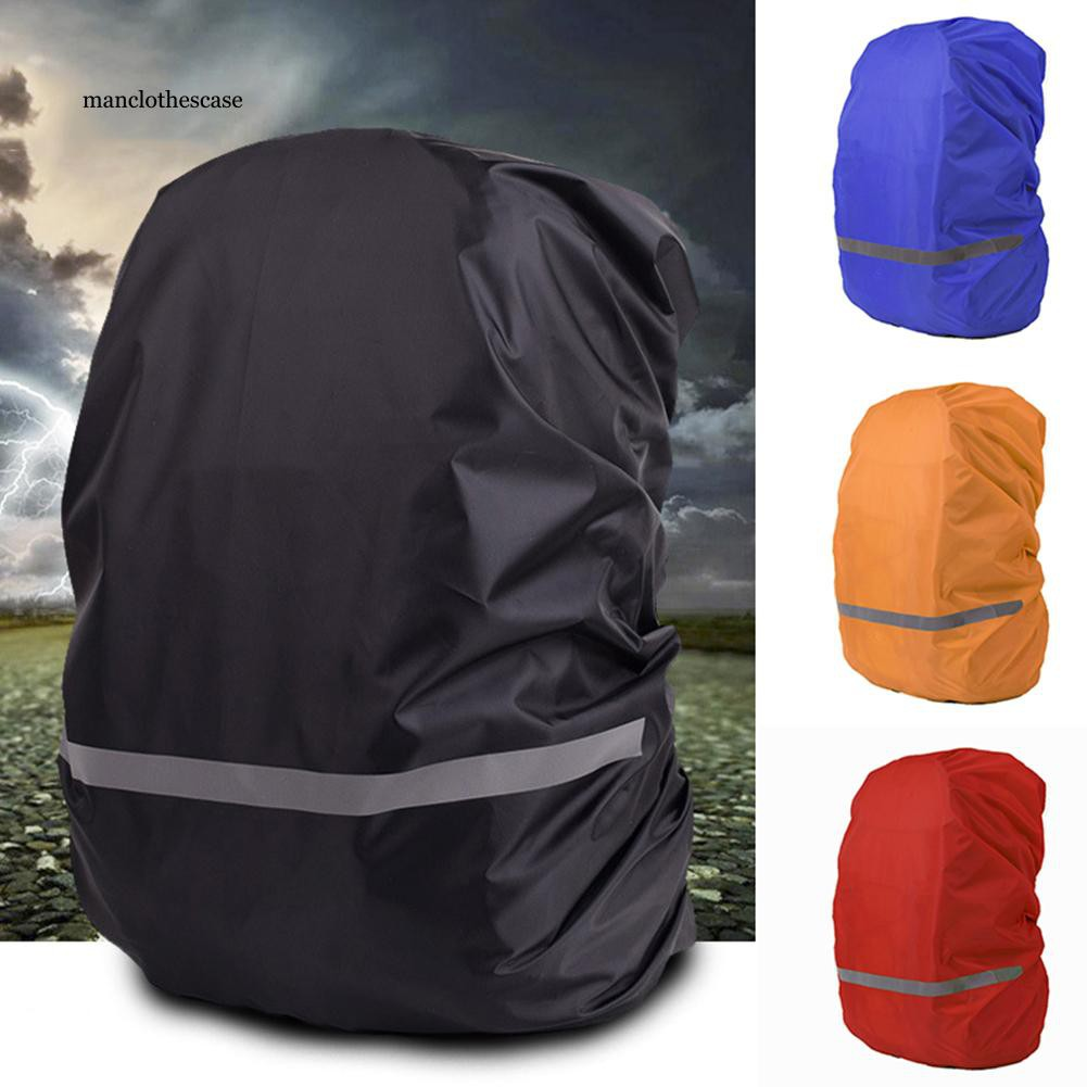 MCC_Outdoor Travel Reflective Night Safety Backpack Rain Cover Waterproof Protector