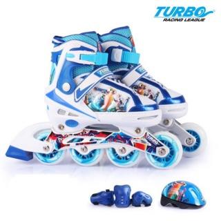 Combo dày trượt patin cao cấp thể thao ( tặng bộ bảo hộ mũ, tay , chân )