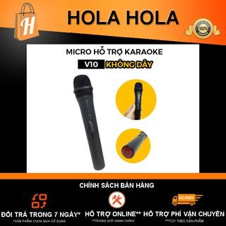 [Mã ELFLASH5 giảm 20K đơn 50K] Micro hỗ trợ Karaoke V10 không dây