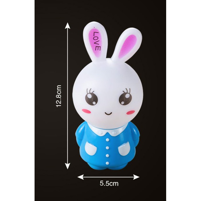 Đèn ngủ con thỏ có remote chỉnh độ sáng và chỉnh giờ tự tắt