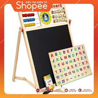 [SALE SẬP SÀN] Bảng từ 2 mặt education Board và bộ số kèm bảng gỗ có núm phương tiện – RẺ NHẤT VN