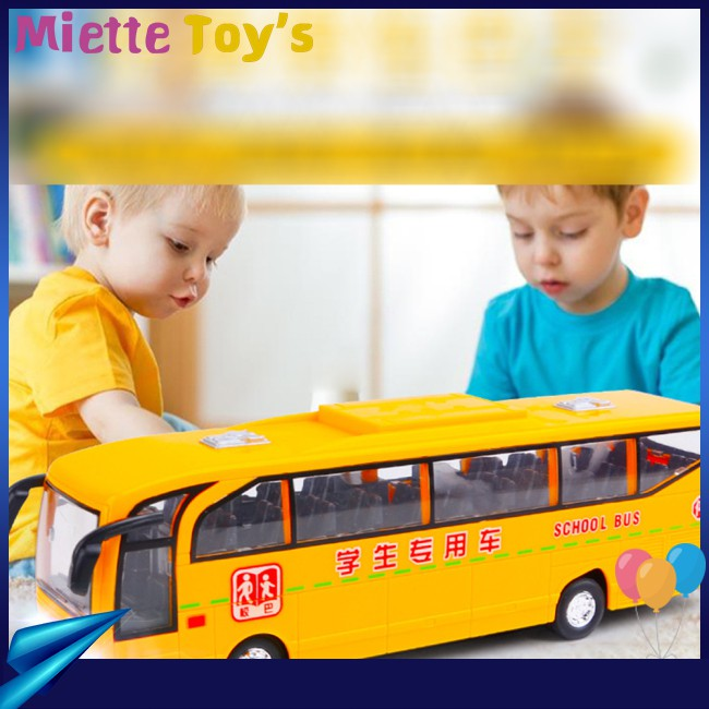Children Simulation School Bus Model Lights Bus Big Music Kindergarten with