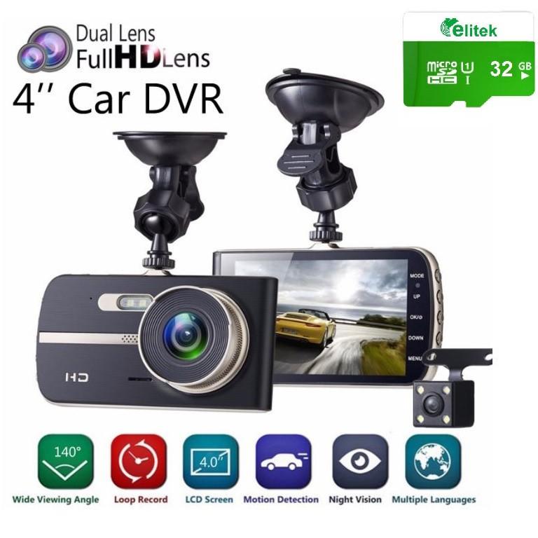 Camera Hành Trình Ô tô Cao Cấp Lens Kép Full HD 2590 4K Procam P803A Góc Rộng 170 Độ Free Thẻ Nhớ 32