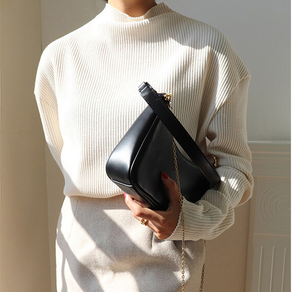 (Hàng Loại 1) Túi Kẹp Nách Nữ Túi Đeo Chéo Nữ Vintage Hottrend - 2 Màu Lựa chọn, Chất liệu cao cấp, Có 2 Dây