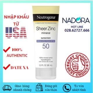 Kem chống nắng Neutrogena Sheer Zinc Dry Touch SPF50 88ml
