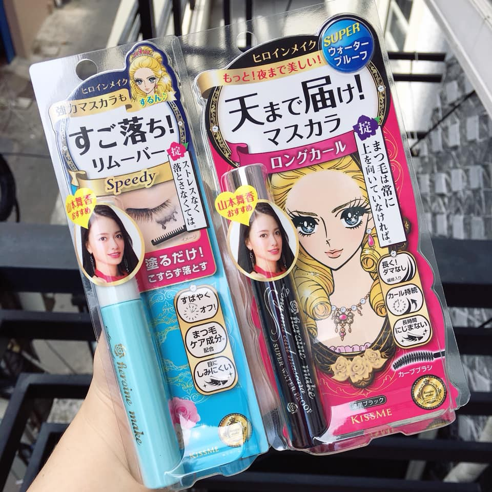 Set mascara + tẩy trang mascara Kiss me Heroine Make | Shopee Việt Nam