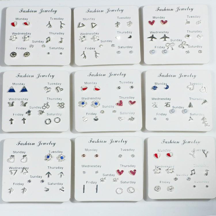 Sét khuyên tai đeo 7 ngày - PHỤ KIỆN THỜI TRANG: KHUYÊN TAI Bông Tai/Khuyên Tai