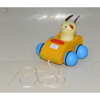 Hàng cũ – ĐỒ CHƠI GỖ – Xe chó gỗ kéo dây Plan Toys (Thailand)